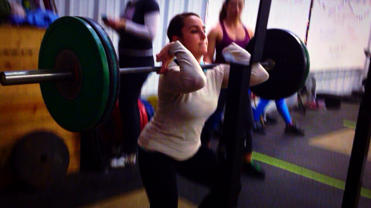Jessie-elbows-front-squat-weightlifting-academy-camp